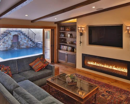 Linear Fireplace Ideas, Pictures, Remodel and Decor