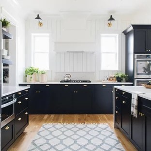 75 Most Popular Farmhouse Kitchen with Black Cabinets