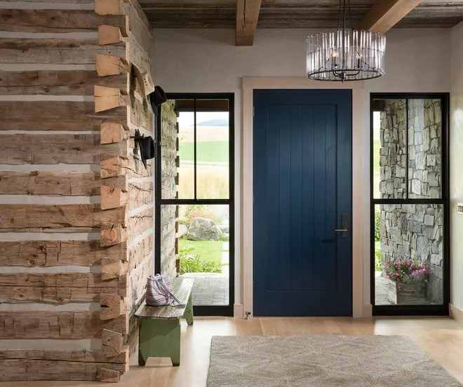 Farmhouse Entry by North Fork Builders of Montana, Inc.