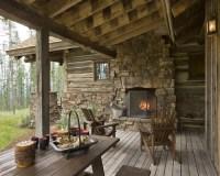 Rustic Outdoor Fireplace | Houzz