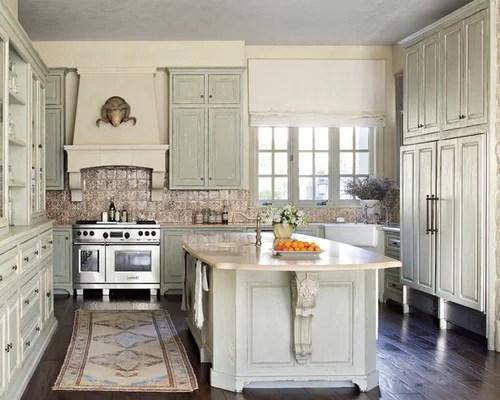 Distressed Kitchen Cabinets Houzz