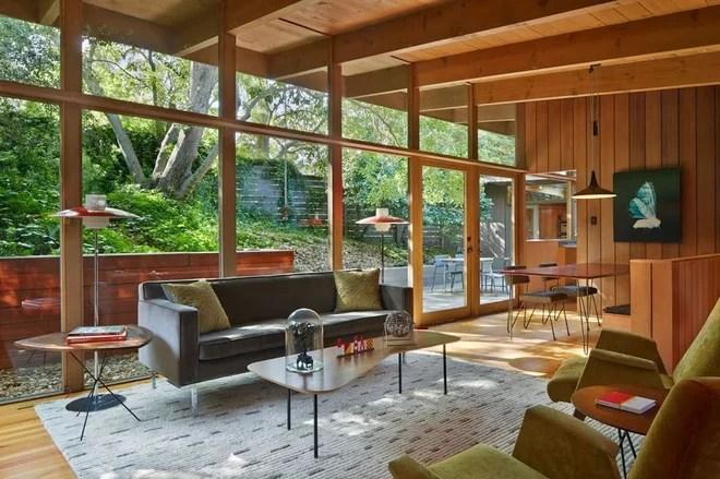 Midcentury Living Room by Koch Architects, Inc.  Joanne Koch