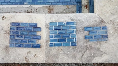 pool tile grout color