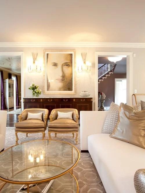 Gold Living Room  Houzz