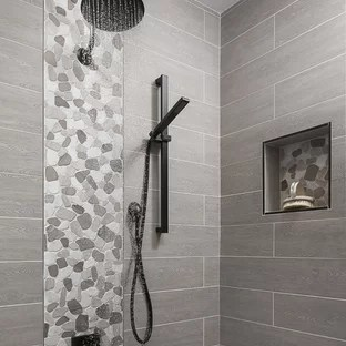 75 beautiful gray tile bathroom with