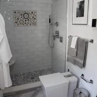 gray shower tile houzz
