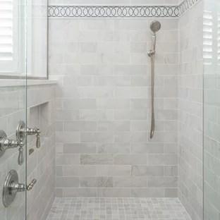 traditional gray tile bathroom