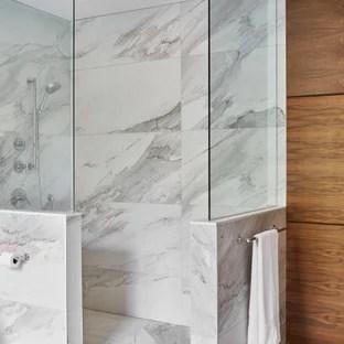 75 beautiful modern white tile bathroom