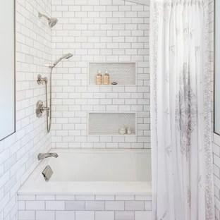 75 beautiful farmhouse tub shower combo