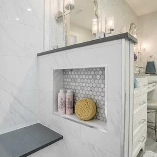75 beautiful small marble tile bathroom