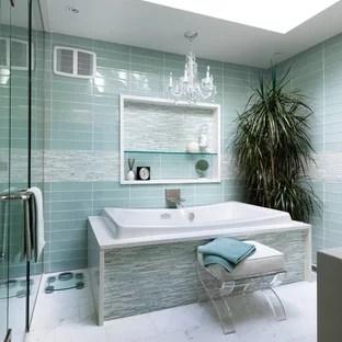 aqua glass tile houzz