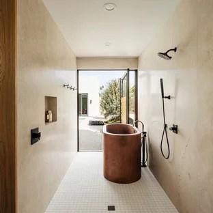 southwestern mosaic tile floor bathroom
