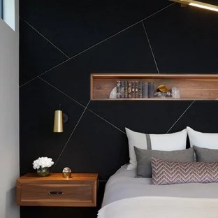 75 Beautiful Bedroom With Black Walls Pictures Ideas January 2021 Houzz