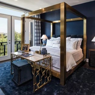 Navy Gold Bedroom Ideas And Photos Houzz