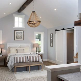 75 Beautiful Farmhouse Bedroom With Blue Walls Pictures Ideas January 2021 Houzz