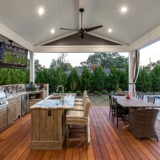 75 beautiful deck with a roof extension
