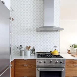 hexagon tile backsplash houzz