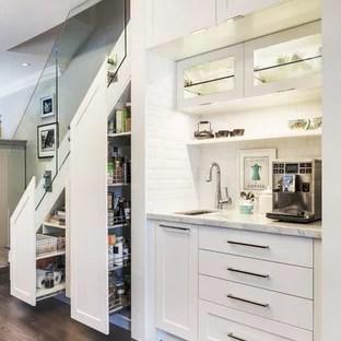 Kitchen Under Stairs Ideas Photos Houzz | Cabinet Design Under Stairs | Kitchen | Interior Design | Houzz | Stairs Storage Ideas | Understairs Storage