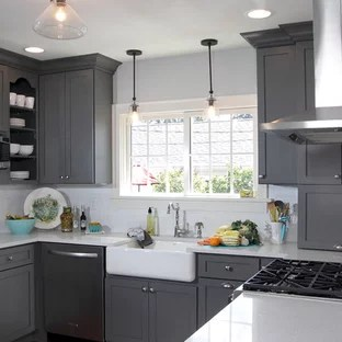 Storm Grey Kitchen Ideas Photos Houzz