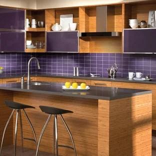 purple subway tile houzz