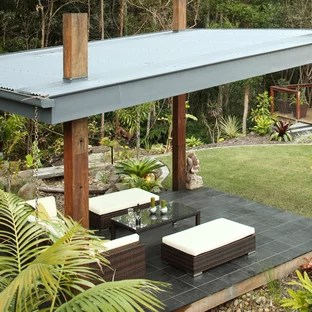 corrugated roof patio ideas photos