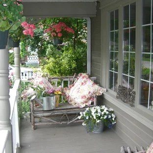 shabby chic style front porch