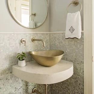 75 beautiful mosaic tile powder room