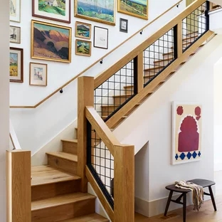 75 Beautiful Staircase Pictures Ideas September 2020 Houzz | Duplex Staircase Railing Designs | Indoor | Wooden | Grill | Two Story House Stair | Floor To Ceiling