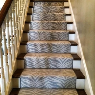 Animal Print Stair Runner Houzz | Leopard Carpet On Stairs | Diamond Pattern | Fawn | Stark | Carpeted | Striped