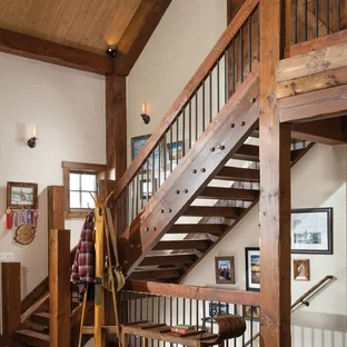 75 Beautiful Rustic Staircase Pictures Ideas September 2020   Rustic Banisters And Railings   Industrial   Unusual   Balcony   Custom   Barn Style