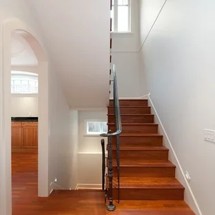 Exterior Front Elevation Staircase Houzz | Front Staircase Design Home | House Plan | Porch Gallery | House Kerala | Outdoor | Ghar