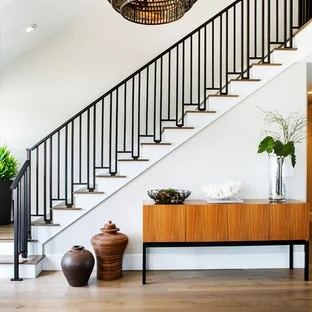 75 Beautiful Contemporary Staircase Pictures Ideas September | Railing Of Stairs Design | Stainless | Wrought Iron | Ultra Modern Stair Grill | Stylish | Creative