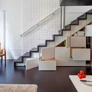 75 Beautiful Small Staircase Pictures Ideas September 2020 | Stair Design For Small House Outside | Small Spaces | Living Room | Wood | Handrail | House Plans