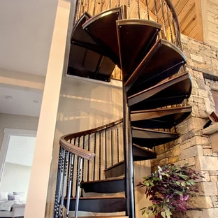 75 Beautiful Rustic Spiral Staircase Pictures Ideas September   Reclaimed Spiral Staircase For Sale   Architectural Antiques   Wrought Iron Spiral   Architectural Salvage   Reclaimed Antique   Railing