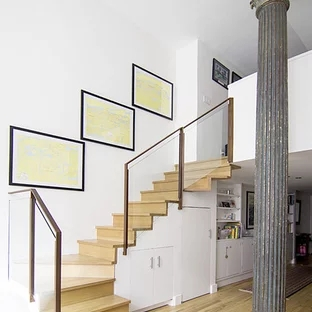 Glass Staircase Railing Houzz | Staircase Handrail Glass Designs | Frosted Glass | Curved | Glass Baluster | Glass Painting | Glass Etching