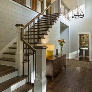 75 Beautiful Staircase Pictures Ideas September 2020 Houzz | New Home Stairs Design | Beautiful | Entrance | Iron | Stairway | Wall