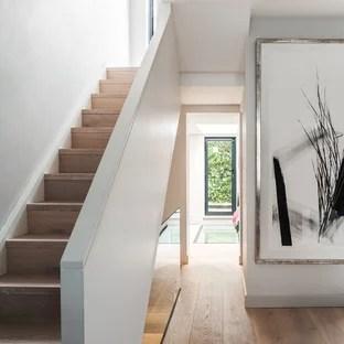 Modern Minimalist Staircase Ideas Photos Houzz   Modern Stair Railings Interior   Minimalist   Luxury   Straight   Wall Mounted   Brushed Nickel