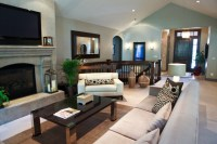 Contemporary mixed with traditional living space ...