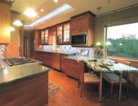 """""""Evergreen"""" -- FLW Inspired New Home - Eclectic - Kitchen ..."""