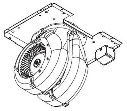 Zephyr Blowers 600 CFM Internal Blower With 6-Inch Round