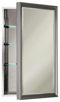 "Studio V 15"" x 25"" Satin Nickel Medicine Cabinet"