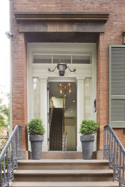 New York City townhouse  Traditional  Entry  New York  by Dufner Heighes Inc