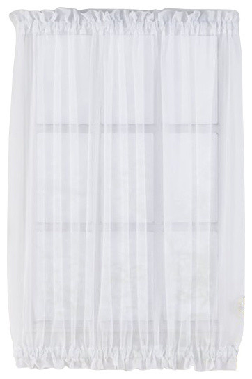 Sheer Voile Door Panels Curtains For French Doors Traditional Curtains By Browns Linens