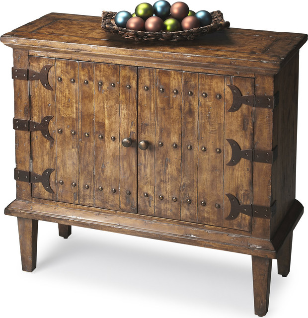 Butler Rustic Console Cabinet  Rustic  Accent Chests And