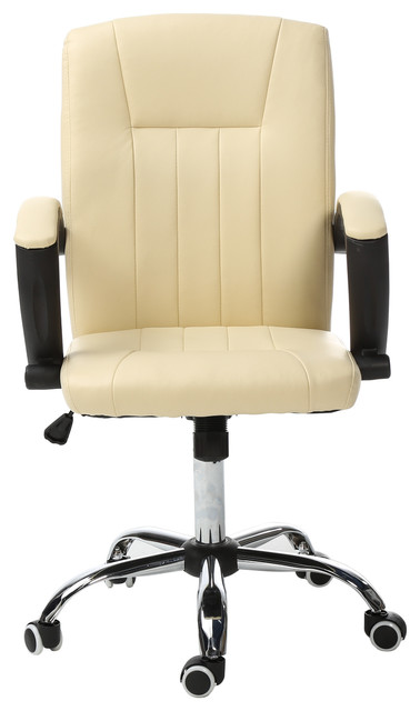 ivory leather office chair spandex bands executive task home computer desk chairs contemporary by magshion inc