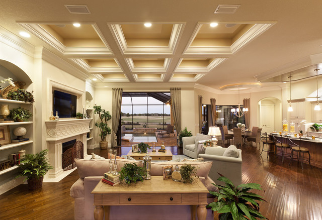 Great Room  Traditional  Living Room  Tampa  by LEE