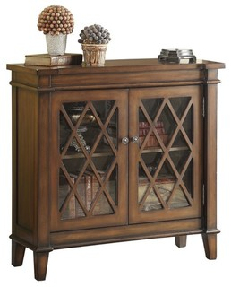 Accent Cabinet With Lattice Overlay