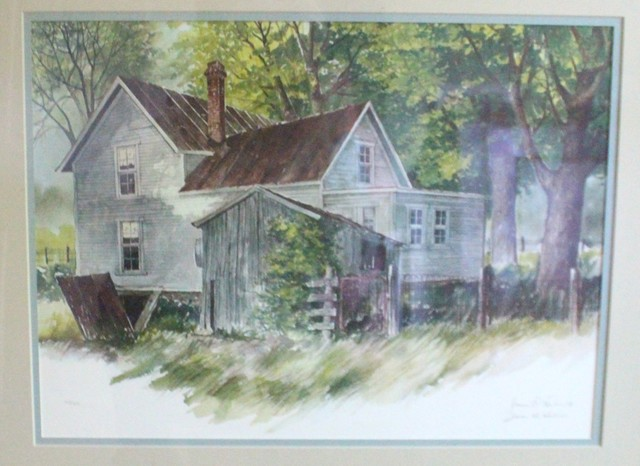 farmhouse chairs for sale chair mats carpet shop houzz | stark interiors watercolor painting signed - paintings