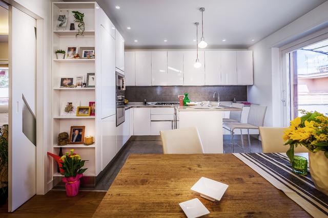 Se l'appartamento non è molto grande, l'area living diventa un affare ancora più complicato. 10 Cucine Italiane Che Scelgono L Open Space