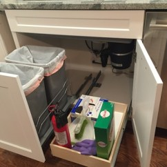 Compact Kitchens Nz Bi Fold Kitchen Cabinet Doors Trash Pullout And Drawer Under Sink Finally Installed